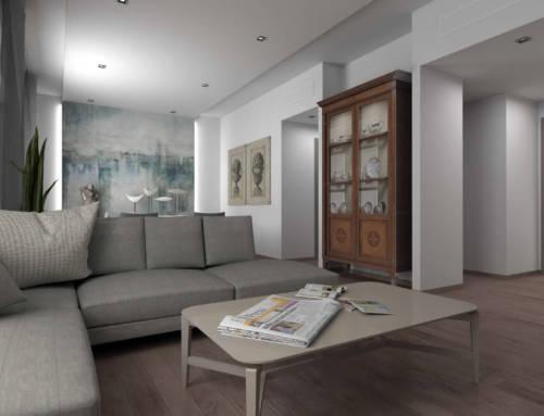 Un appartamento di 100 mq con vista sulle Mura Medicee
